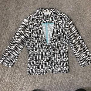 CAbi #298 Sz 2 Du Jour Jacket Blazer Printed